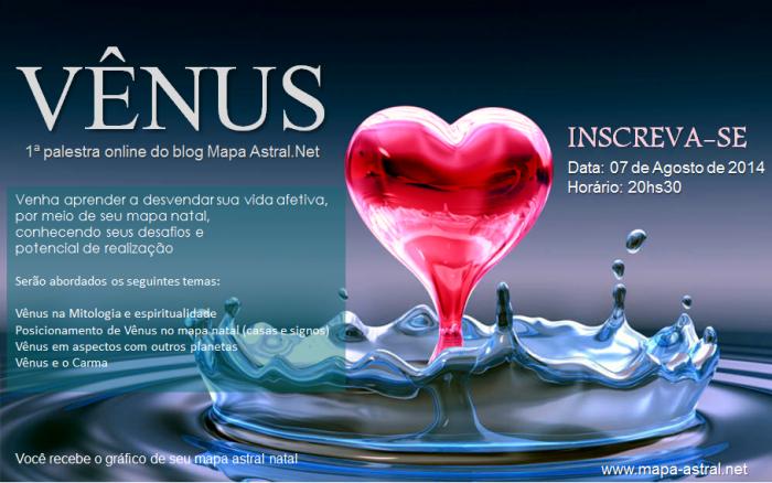 palestra online Vênus